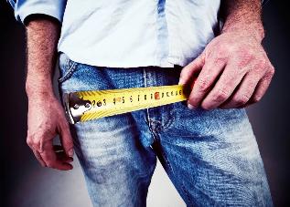 Meeste liikmete tuubid ja suurused Pikkus ja paksuse liige suureparaste pihustid